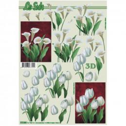 Carte 3D à découper -  Arums/Tulipes - 777044