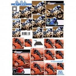 Carte 3D à découper - Moto de course - 630115