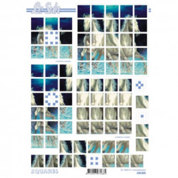 Carte 3D à découper - Chevaux - 630203