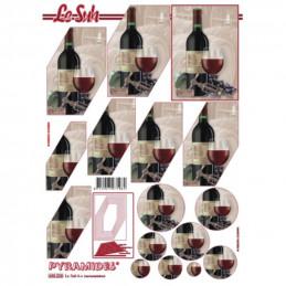 Carte 3D à découper - Vin rouge - 630223
