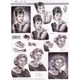 Carte 3D à découper - Audrey Hepburn - 777017