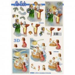 Carte 3D à découper - Enfants et anges - 777074