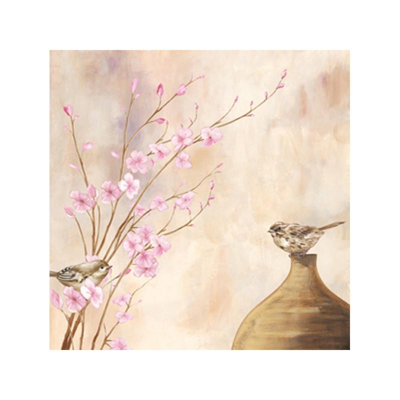 Image 3D - NCN 4860 - 40x40 - Oiseaux et branches fleuries