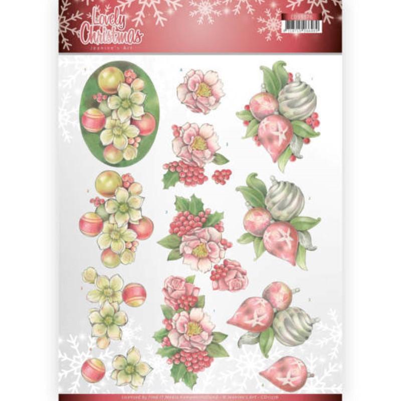 Carte 3D à découper - CD11375 - Lovely Christmas - Décorations de Noël