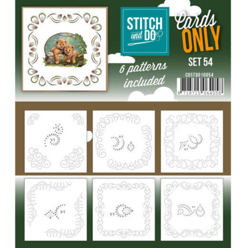 Cartes seules Stitch and do  - Set n°54