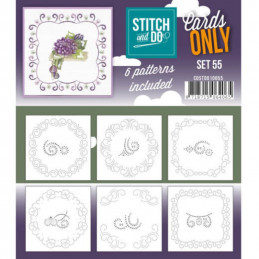 Cartes seules Stitch and do  - Set n°55