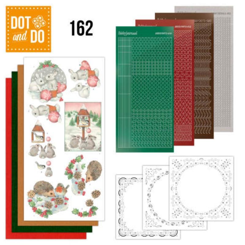 Dot and do 162 - kit Carte 3D  - Lapins et hérissons dans la neige