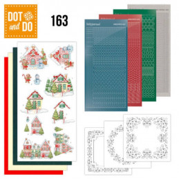 Dot and do 163 - kit Carte 3D  - Maisons enneigées