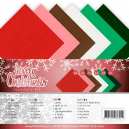 Set 24 cartes Jeanine's Art - Lovely Christmas 13.5x27cm