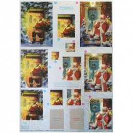 Image 3D A4 préd métal Noël - 248762 - Le Père Noël arrive
