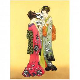 Image 3D - or 32 - 24x30  - chinoises et éventails