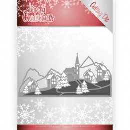 Die - Jeaninnes art - JAD10079 - Lovely christmas - Paysage hiver