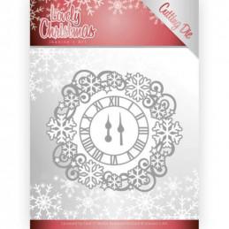 Die - Jeaninnes art - JAD10080 - Lovely christmas - Cercle horloge