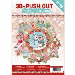 Carte 3D livre A4 prédécoupé - Lovely Christmas 24 images + papiers