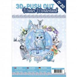 Carte 3D livre A4 prédécoupé - Winter wonderland 24 images + papiers
