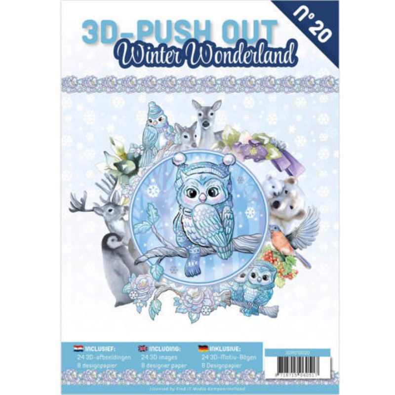 Carte 3d Livre A4 Predecoupe Winter Wonderland 24 Images Papiers