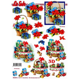 Carte 3D prédéc. - Panier de Noël - 680064