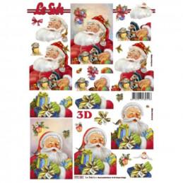 Carte 3D à découper - Père Noël et cadeaux - 777101
