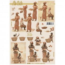 Carte 3D à découper -  Africaine - 777123