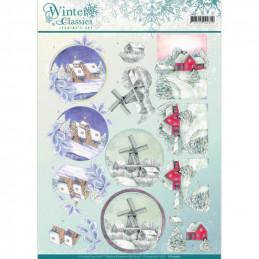 Carte 3D à découper - CD10967 - Paysage de Noël - Jeanine's Art