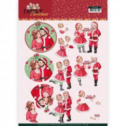 Carte 3D à découper - CD11387 - Family Christmas - Noël en famille