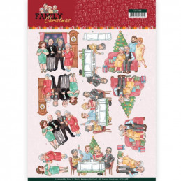Carte 3D à découper - CD11388 - Family Christmas - Noël en famille