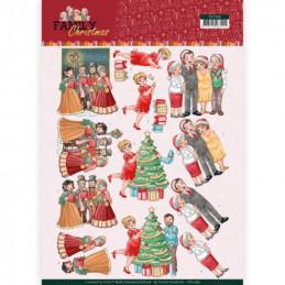 Carte 3D à découper - CD11389 - Family Christmas - Noël en famille