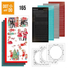 Dot and do 165 - kit Carte 3D  - Noël en famille