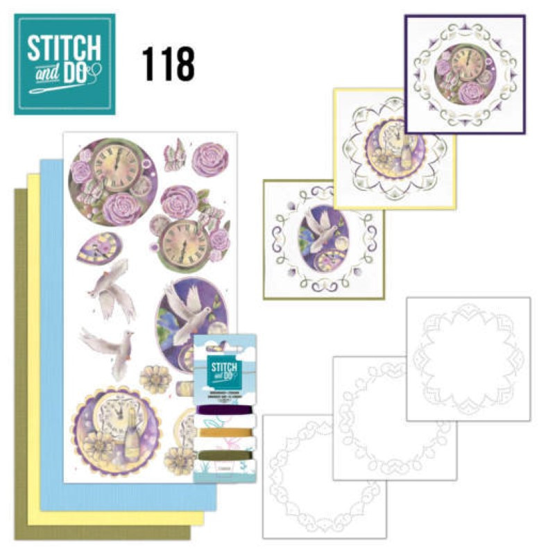 Stitch and do 118 - kit Carte 3D broderie - Nouvel An