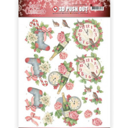 Carte 3D prédéc. - SB10389 - Lovely Christmas - L'heure de Noël