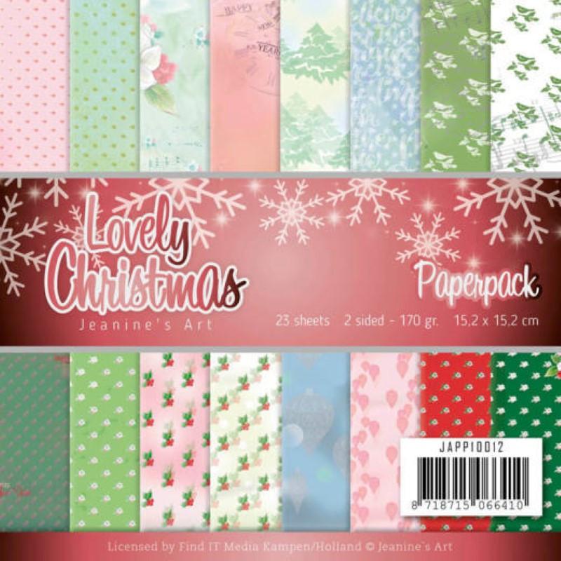 Bloc de papier - Jeanine art - Lovely christmas 15.2 x 15.2