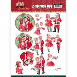 Carte 3D prédéc. - SB10391 - Family Christmas - Famille Noël