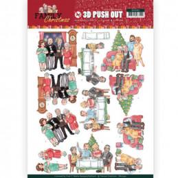 Carte 3D prédéc. - SB10392 - Family Christmas - Noël en famille