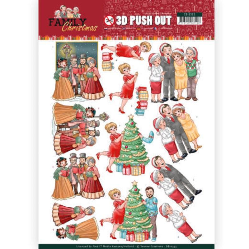 Carte 3D prédéc. - SB10393 - Family Christmas - Célébration de Noël