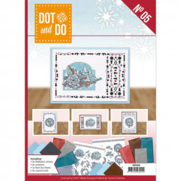Dot and do Livre n°5 - Kit Carte 3D - Hiver en bleu