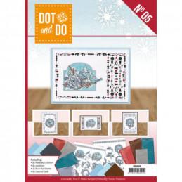 Dot and do Livre n°5 - Kit Carte 3D - Hiver en bleu