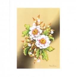 Image 3D - Astro 463 - 24x30 - Bouquet fond ocre