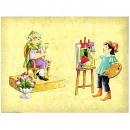 Image 3D - Astro 561 - 24x30 - Enfant roi et peintre