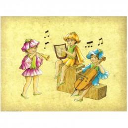 Image 3D - Astro 562 - 24x30 - Enfants musiciens