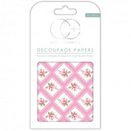 Papier patch 3 feuilles 35x40 cm Boutons de rose n°2