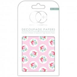 Papier patch 3 feuilles 35x40 cm Bouquet de roses