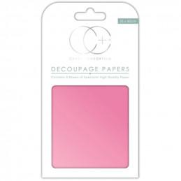 Papier patch 3 feuilles 35x40 cm Rose Effet nacré