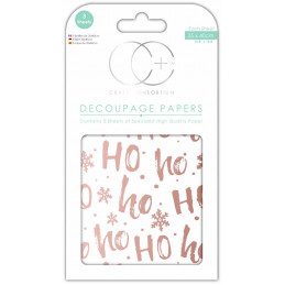 Papier patch 3 feuilles 35x40 cm Ho Ho doré