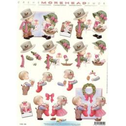Carte 3D à découper - 11052059 - Enfants s'offrent cadeaux