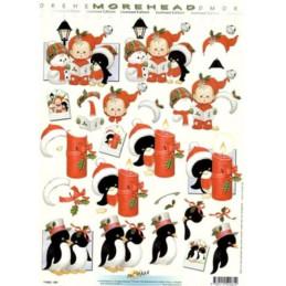 Carte 3D à découper - 11052061 - Pingouins à Noël