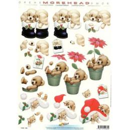 Carte 3D à découper - 11052065 - Chiots et botte/ourson et pot