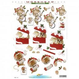 Carte 3D à découper - 11052140 - Animaux boîte à cadeaux