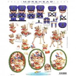 Carte 3D à découper - 11052141 - Soldats/jouets