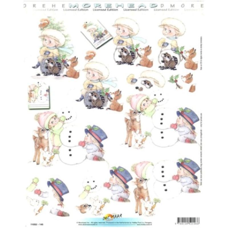 Carte 3D à découper - 11052146 - Enfants/bonhomme de neige