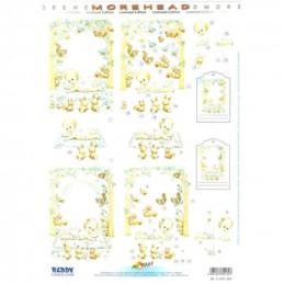 Carte 3D prédéc. - A4 - 11052309 - Bébés sur tapis/Animaux